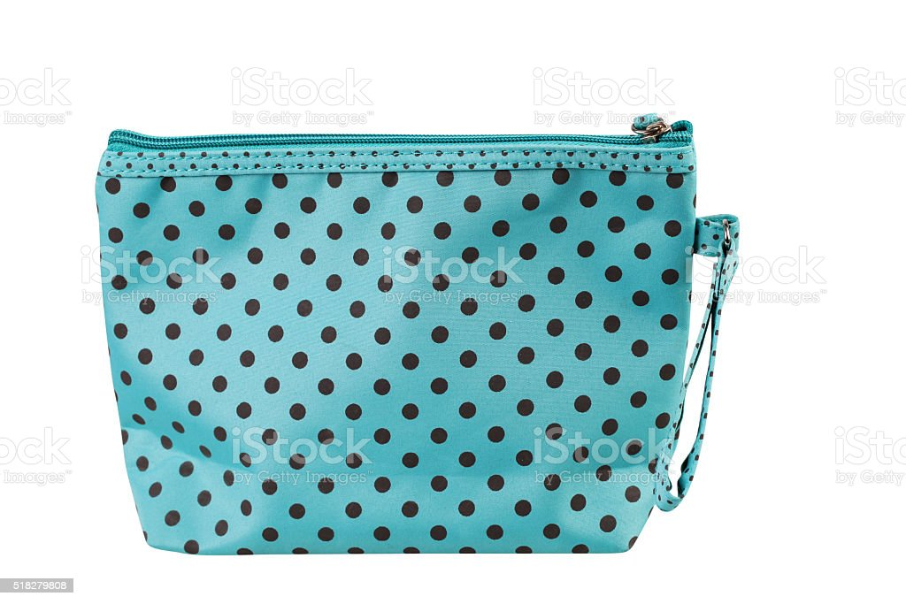 Cosmetic bag isolated on white stock photo