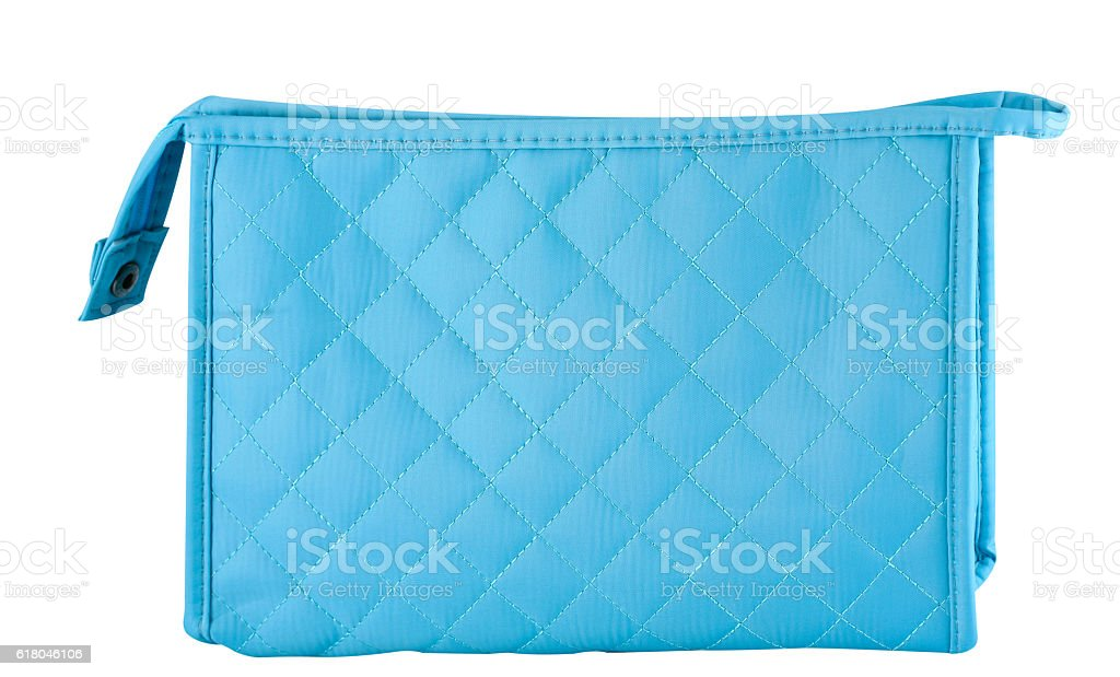Cosmetic bag on white stock photo