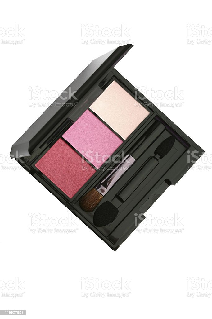 Cosmetic blush palette royalty-free stock photo