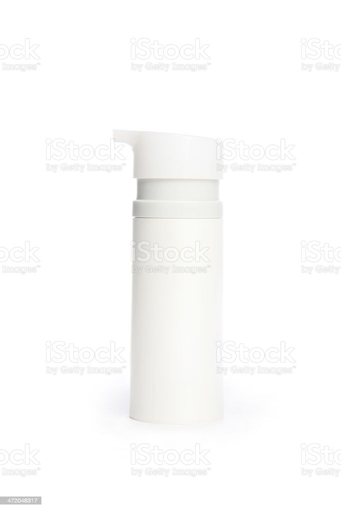 Cosmetic bottle with batcher royalty-free stock photo