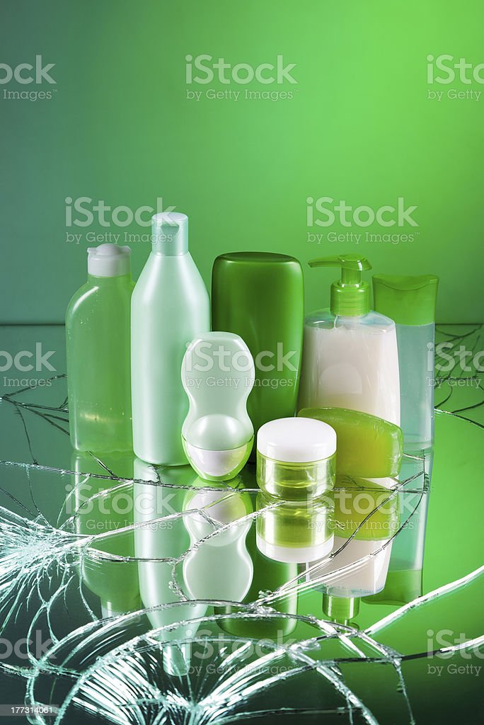 Cosmetic bottles royalty-free stock photo