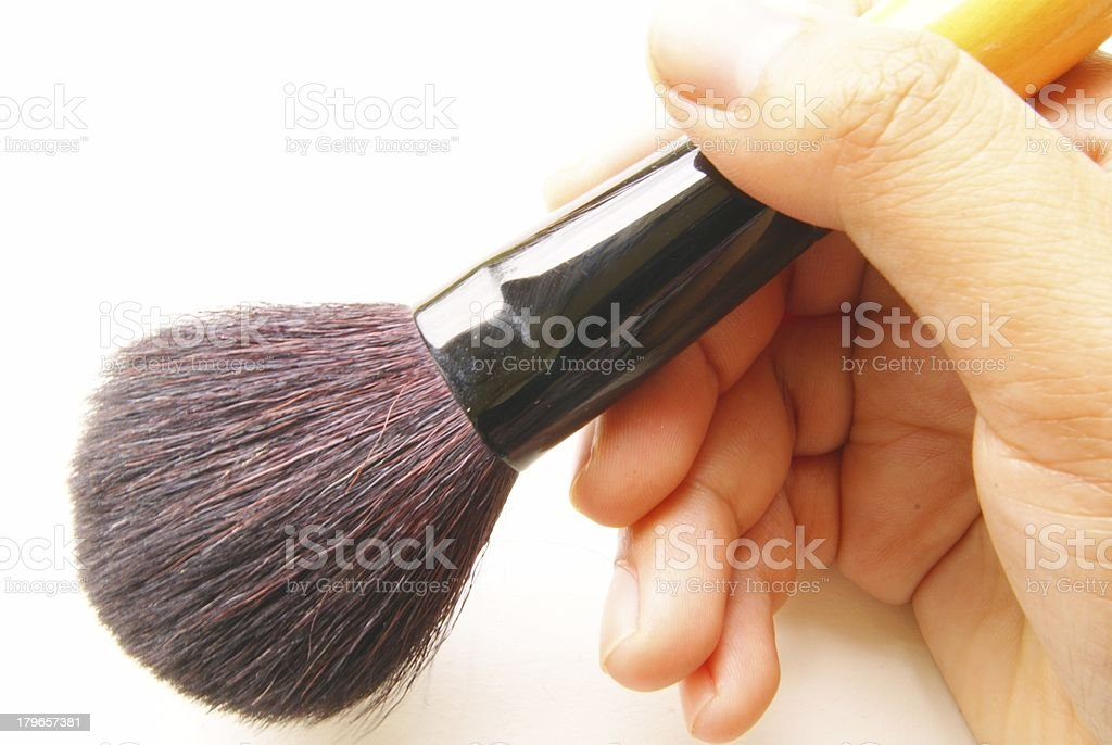 cosmetic brush royalty-free stock photo