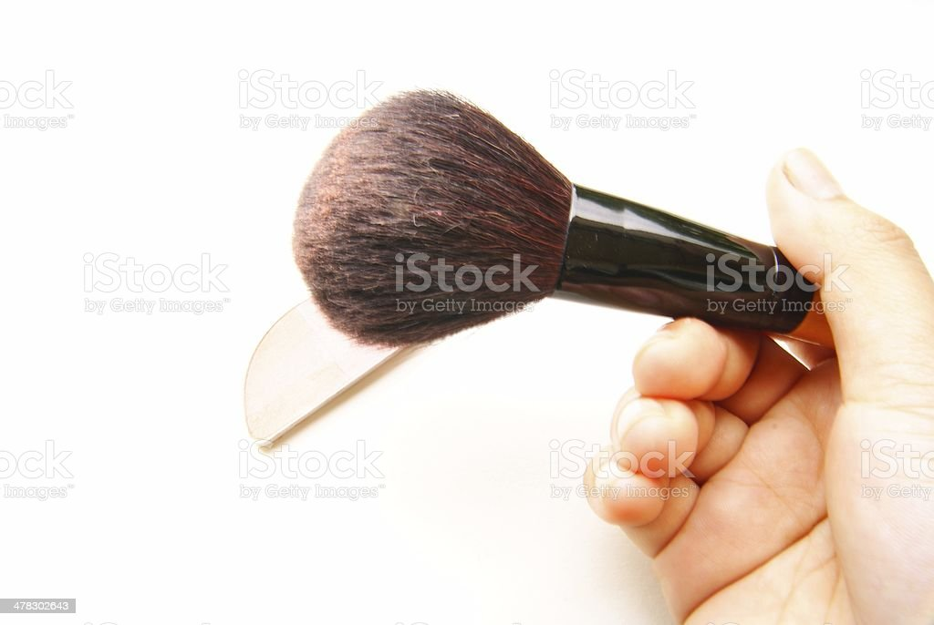 cosmetic brush royalty-free stock photo