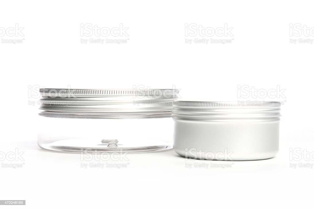 Cosmetic cans horizontal royalty-free stock photo