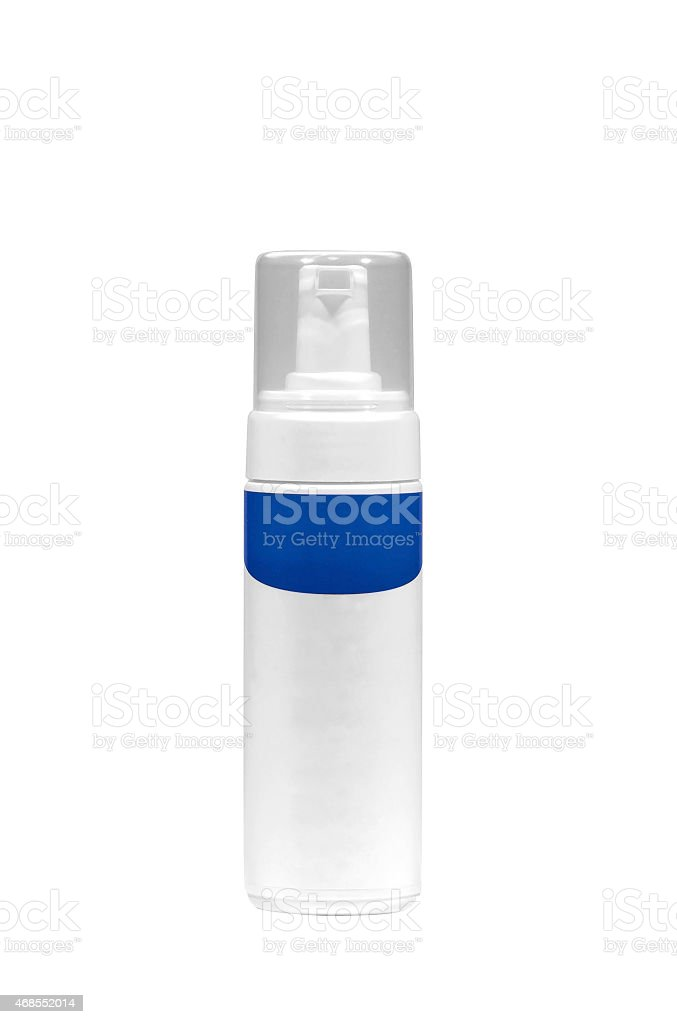 Cosmetic container. Shaving Foam isolated on white stock photo