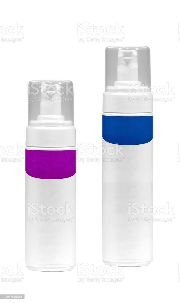 Cosmetic containers stock photo