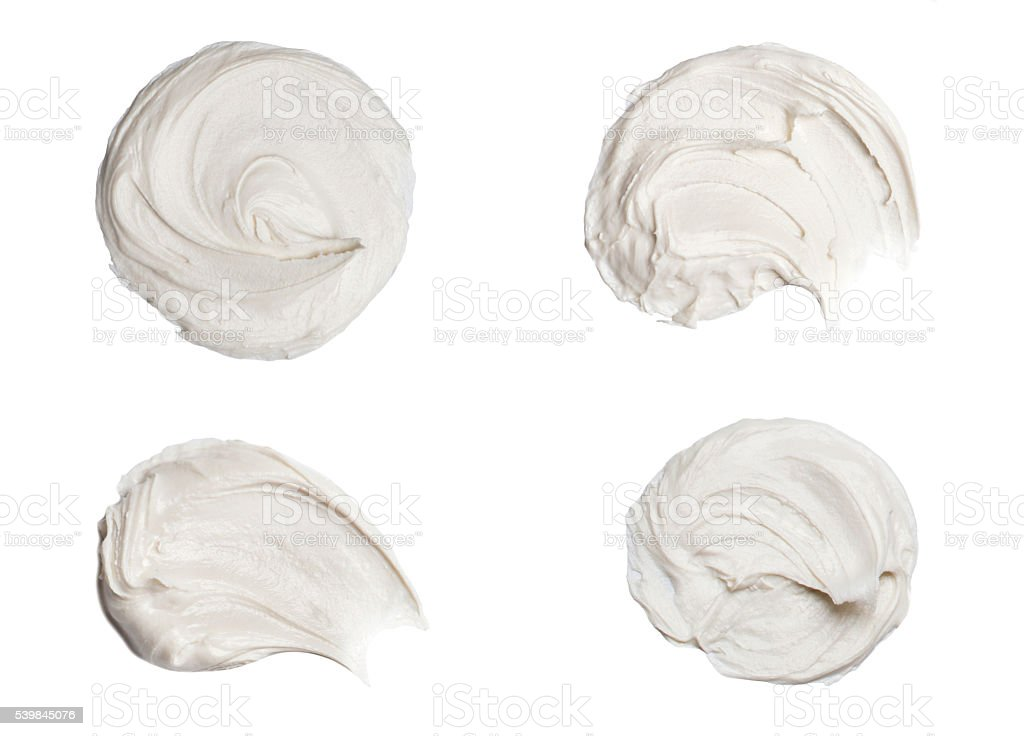 Cosmetic cream isolated on white stock photo