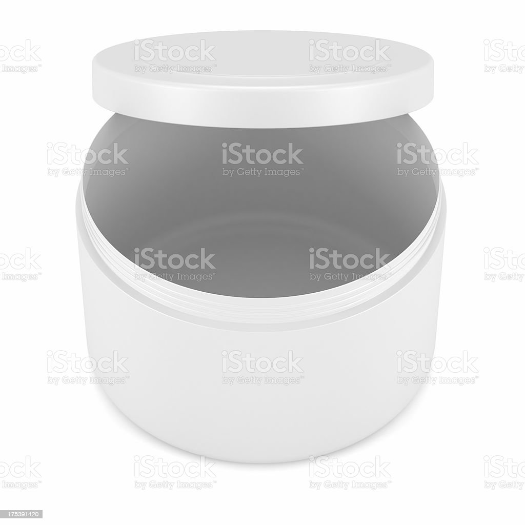 Cosmetic face cream container royalty-free stock photo