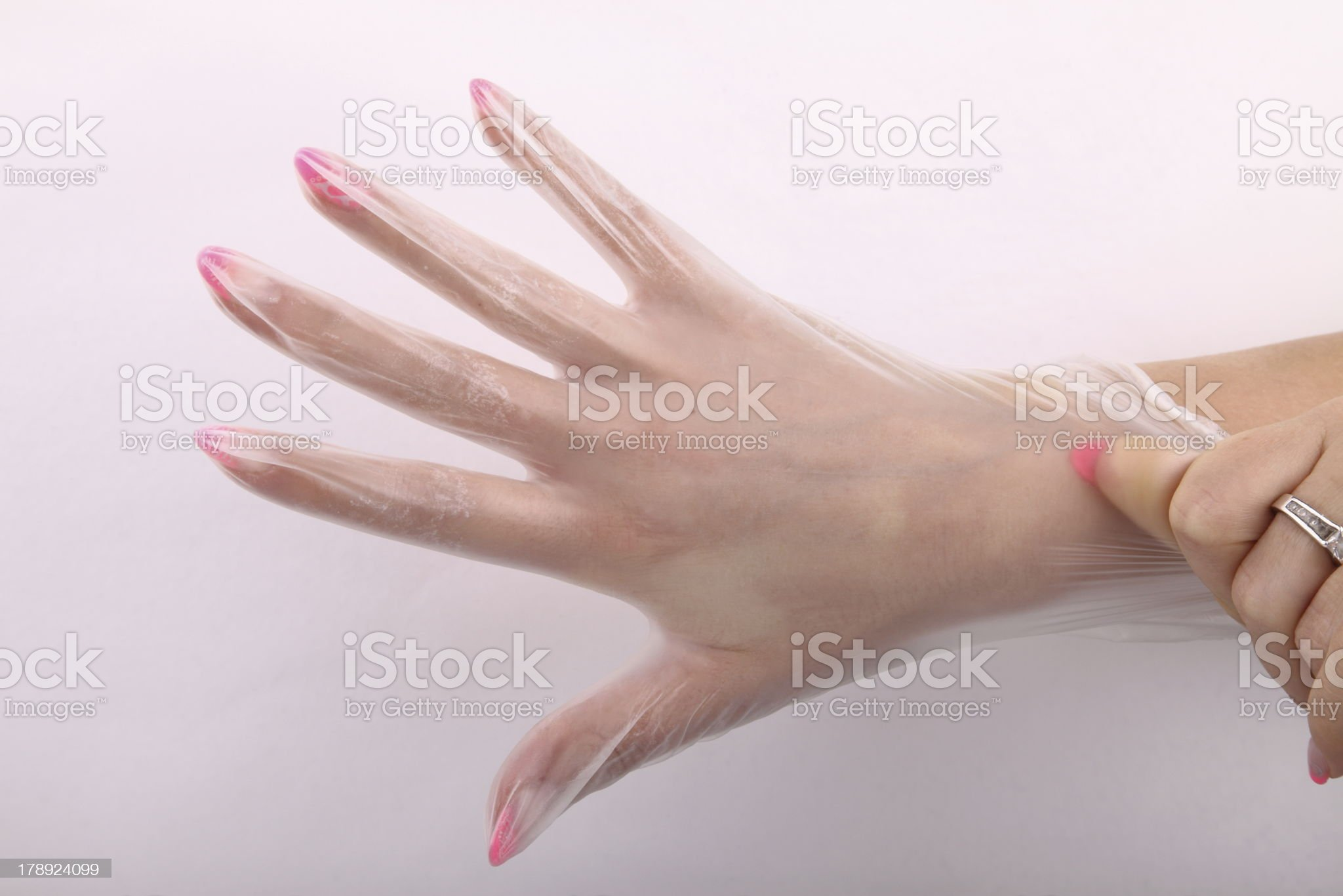 cosmetic glove royalty-free stock photo