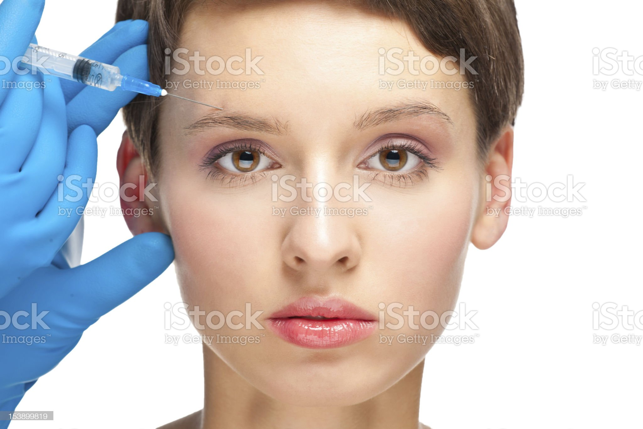 Cosmetic injection of botox royalty-free stock photo