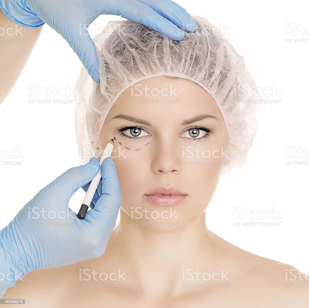 Cosmetic injection stock photo