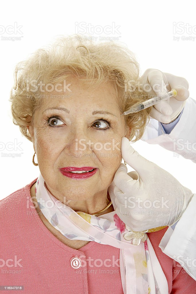 Cosmetic Injections royalty-free stock photo