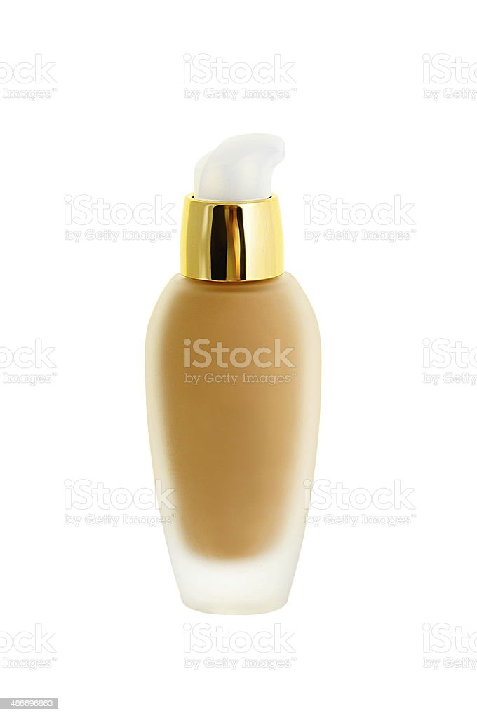 Cosmetic liquid foundation isolated on white stock photo