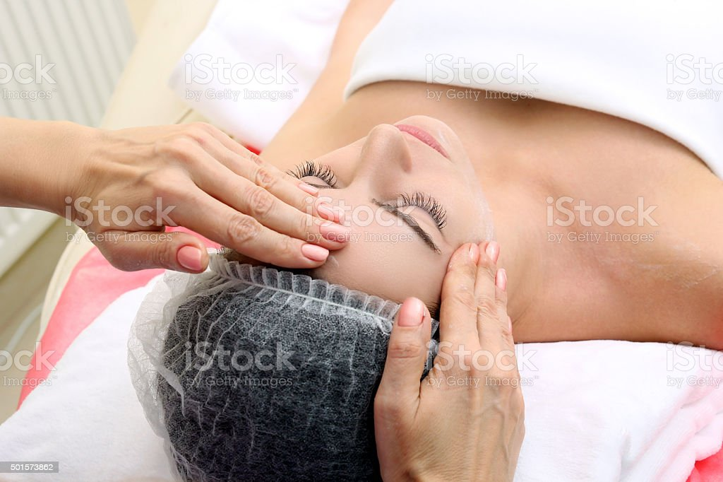Cosmetic massage royalty-free stock photo