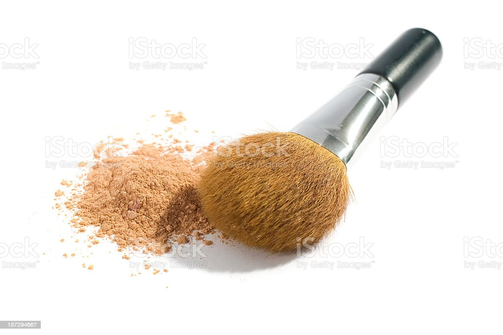 Cosmetic Mineral  Brush royalty-free stock photo