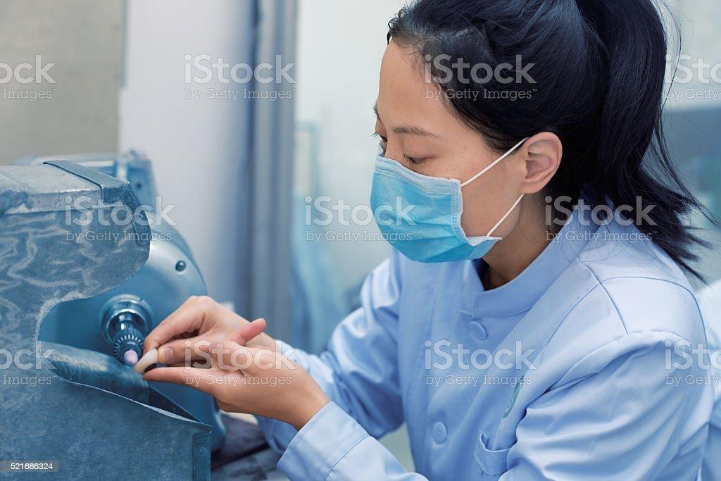 Cosmetic ocular prosthesis stock photo