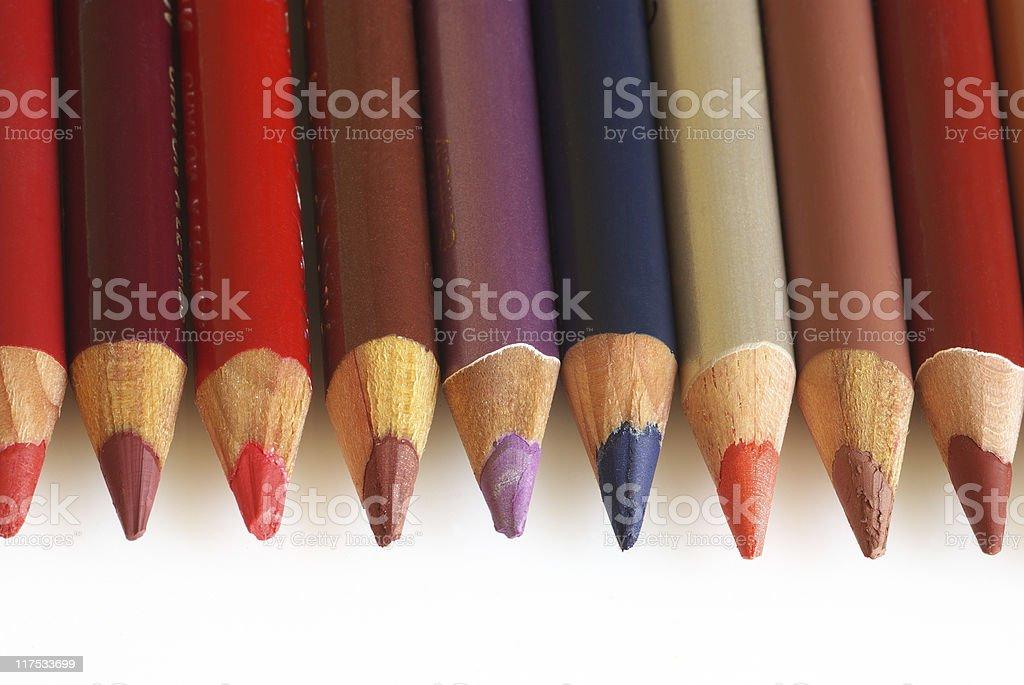 Cosmetic pencils stock photo