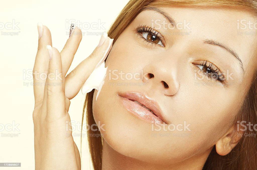 Cosmetic portrait royalty-free stock photo