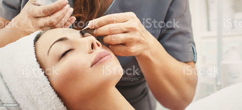 Cosmetic procedure. stock photo