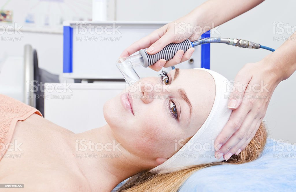 cosmetic procedures in spa clinic royalty-free stock photo