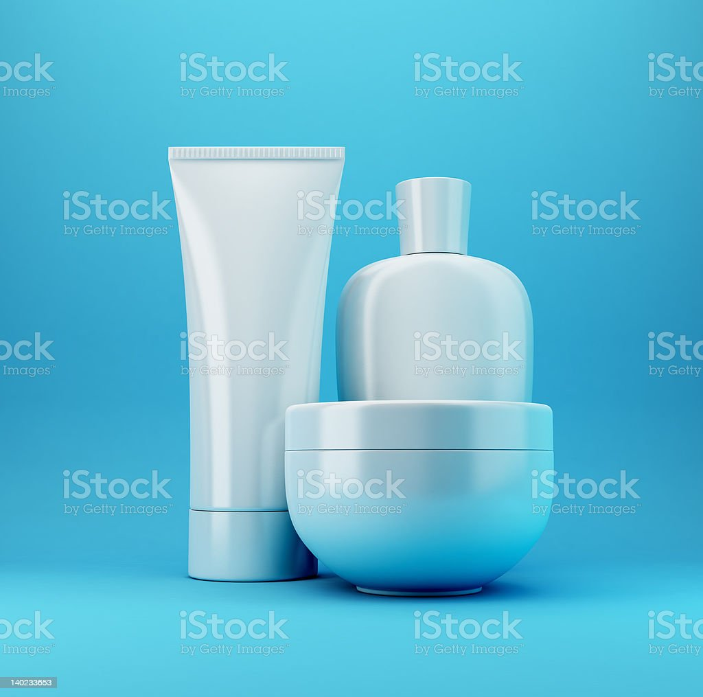 Cosmetic Products 3 - Blue royalty-free stock photo