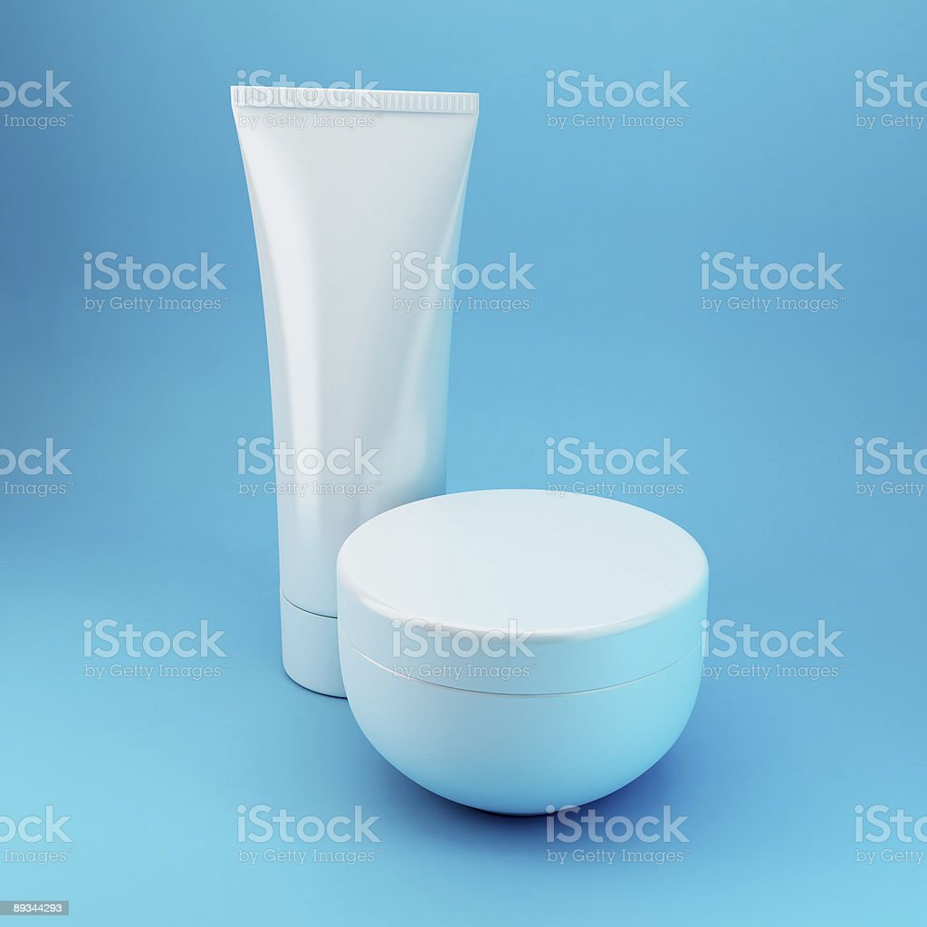 Cosmetic Products 4 - Blue stock photo