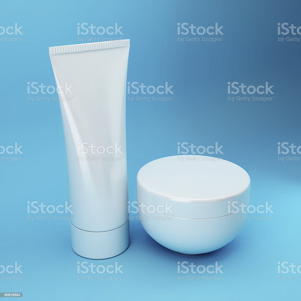 Cosmetic Products 5 - Blue stock photo