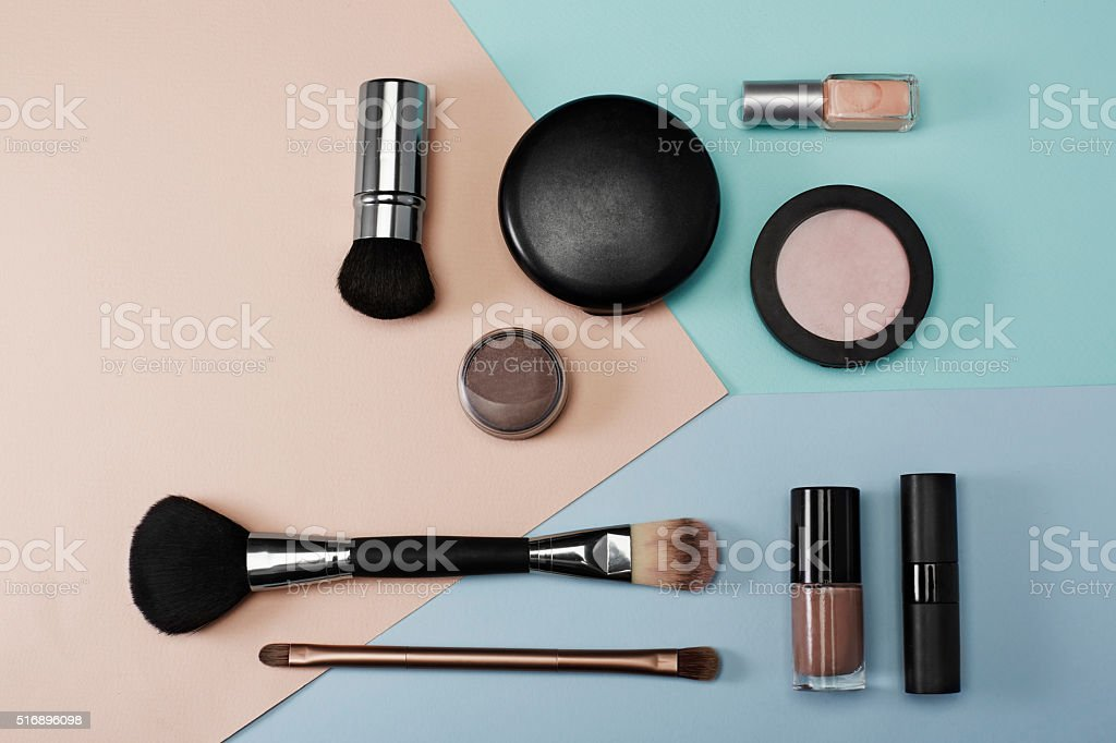 Cosmetic products in studio stock photo