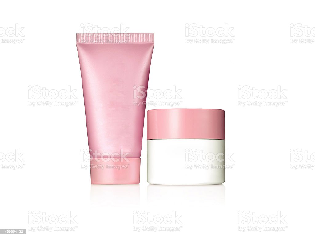 Cosmetic products, with no brand stock photo