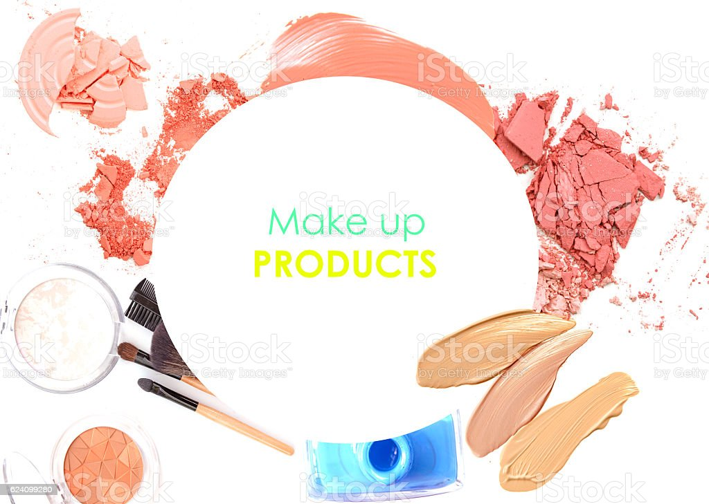 cosmetic promotion with copy space stock photo