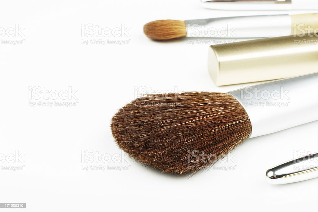 Cosmetics and Brushes royalty-free stock photo