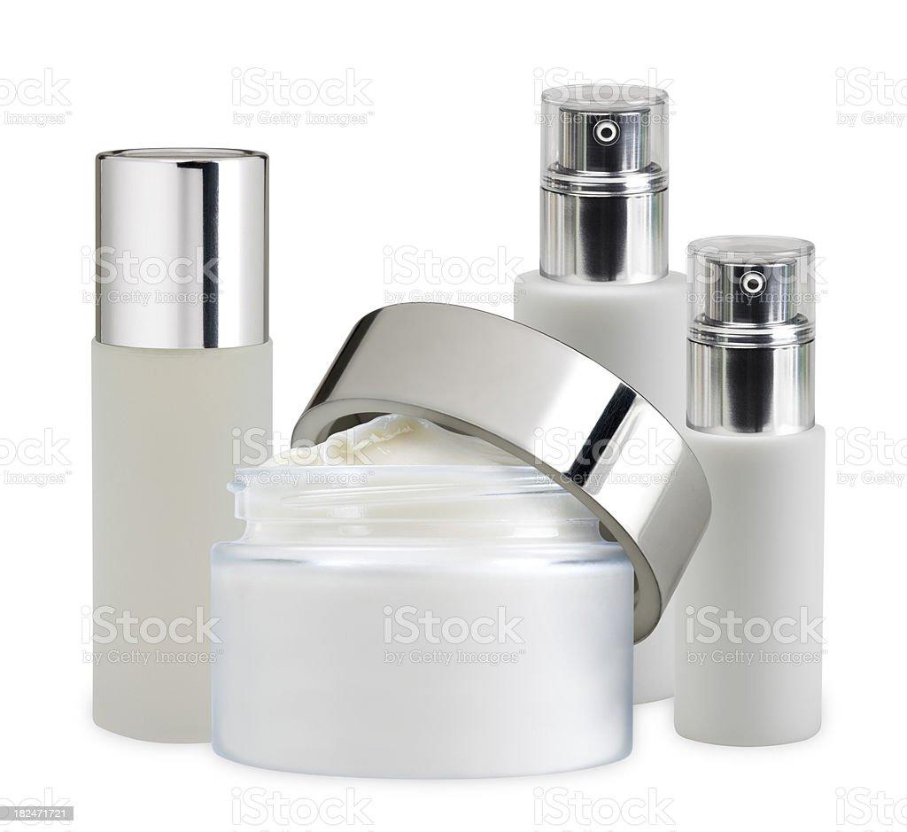 Cosmetics arrangement stock photo