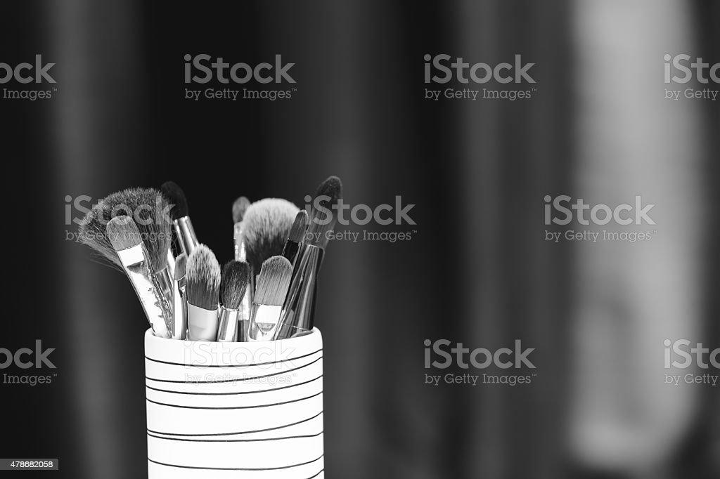 Cosmetics background stock photo