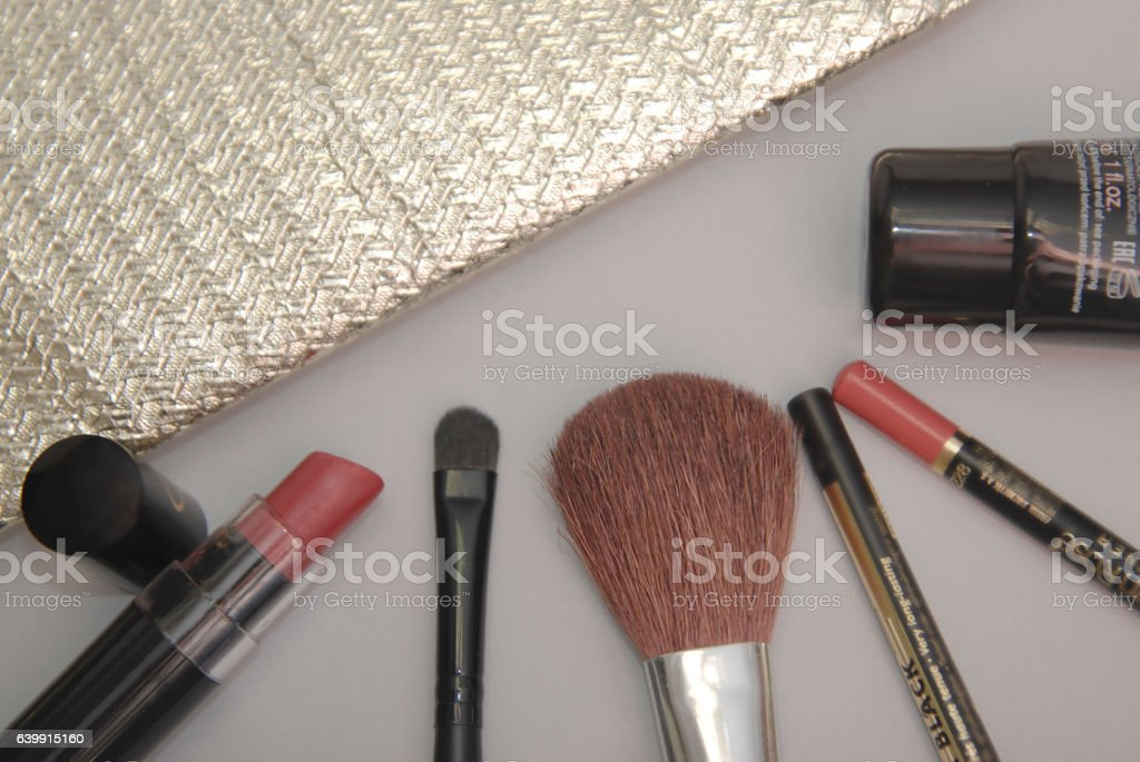 Cosmetics background stock photo