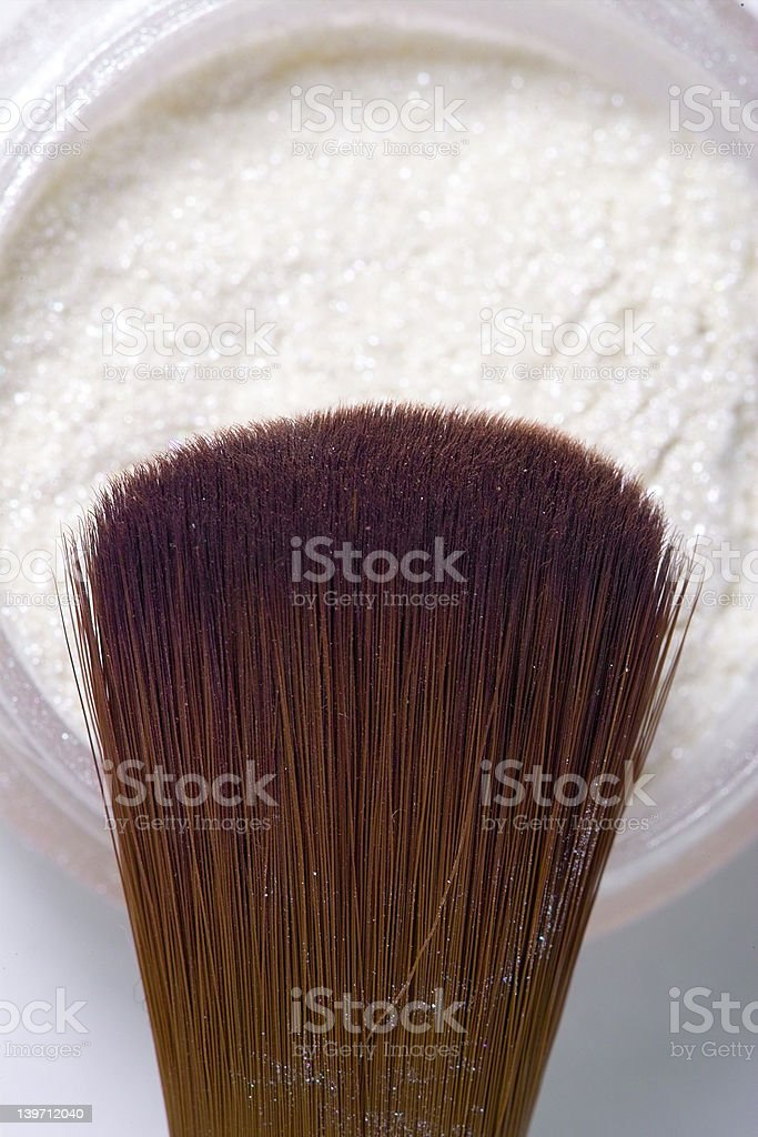 Cosmetics brush closeup stock photo
