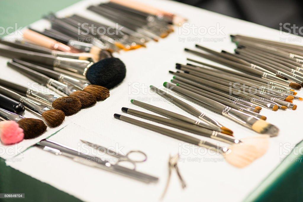 cosmetics brush stock photo