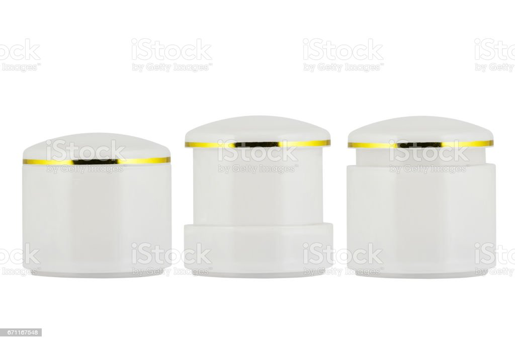 cosmetics containers stock photo