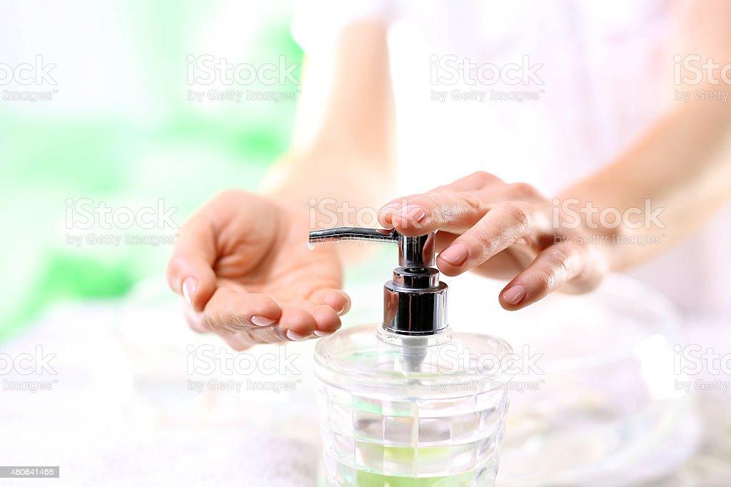 Cosmetics daily hygiene stock photo