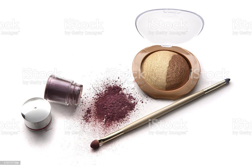 Cosmetics: Eyeshadow and Pencil royalty-free stock photo