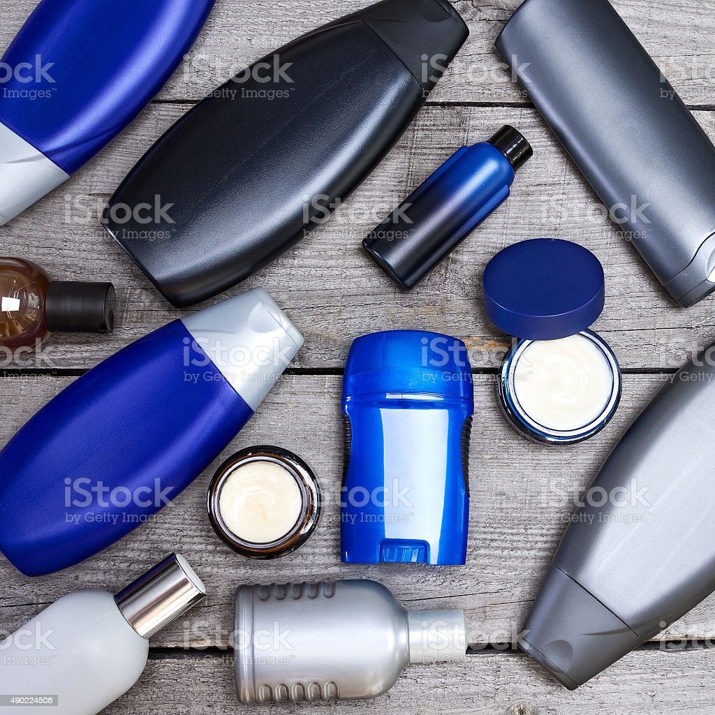 Cosmetics for men stock photo
