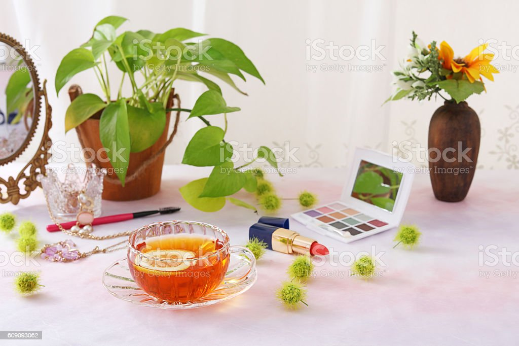 Cosmetics image stock photo