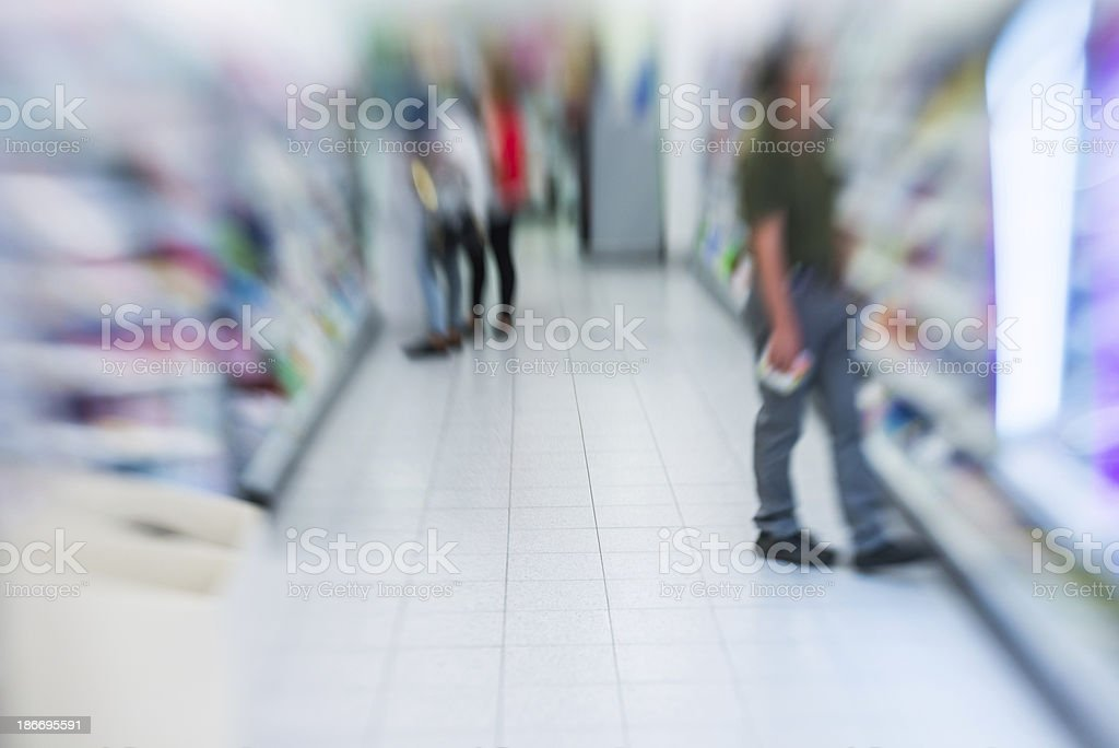 cosmetics in a supermarket royalty-free stock photo