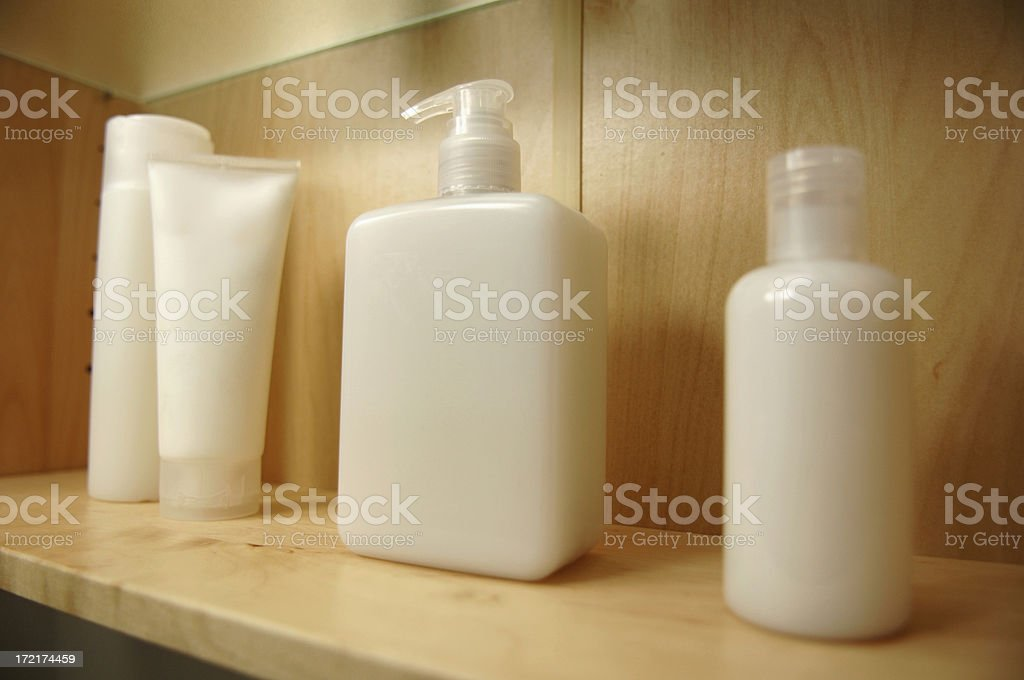 cosmetics in cabinet royalty-free stock photo