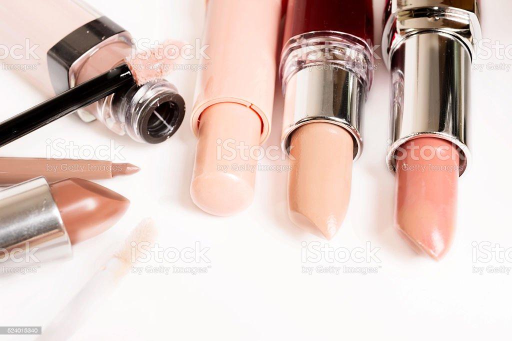 cosmetics in nude tone stock photo