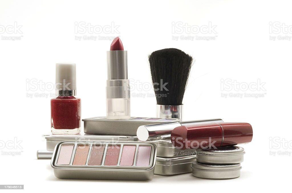 Cosmetics on White Background royalty-free stock photo