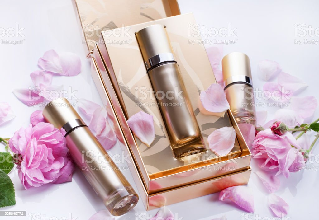 Cosmetics Packages design Beauty Products stock photo