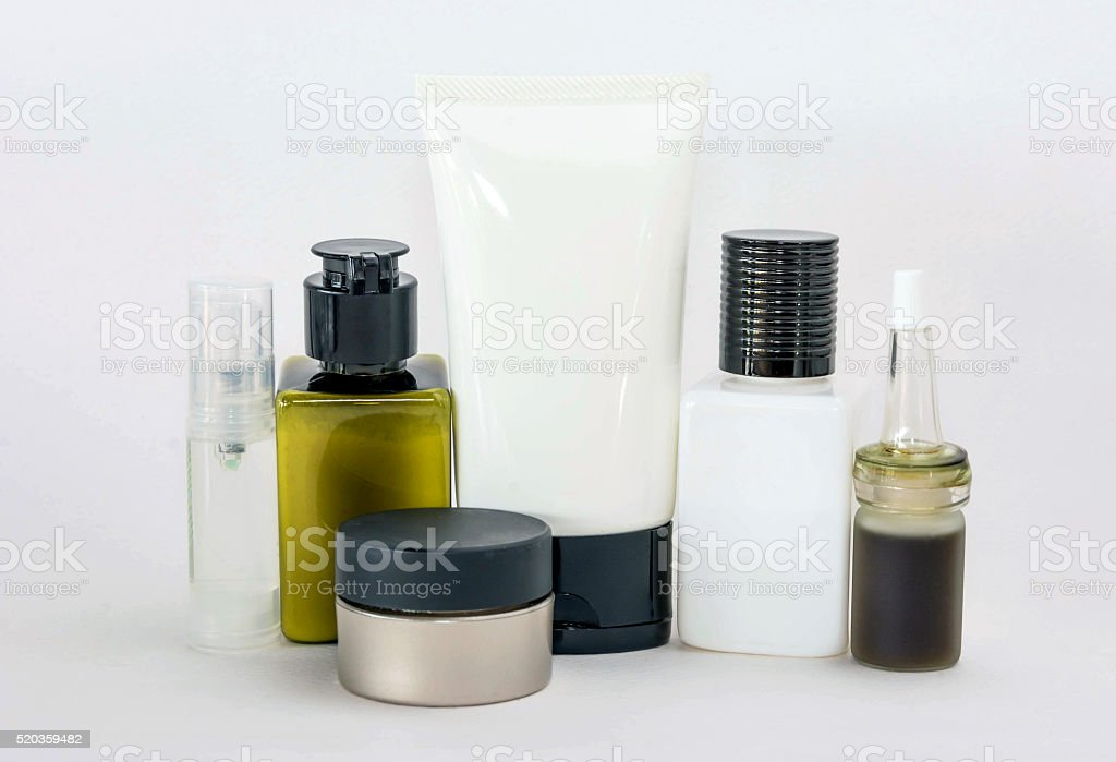 cosmetics packaging stock photo