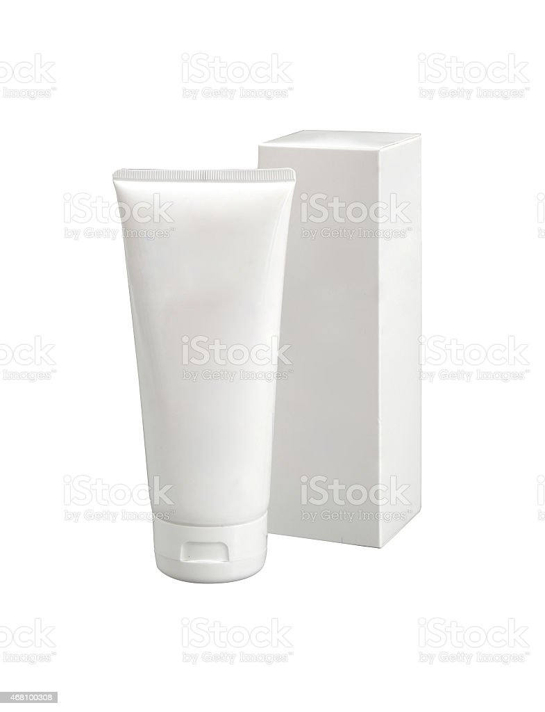 Cosmetics packs and containers stock photo