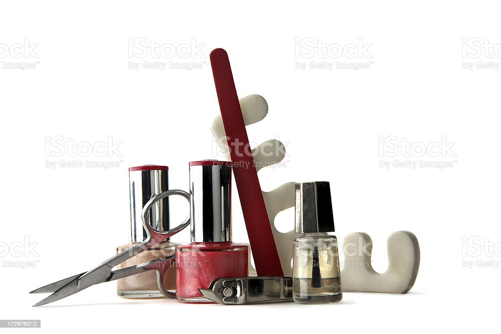 Cosmetics: Pedicure royalty-free stock photo