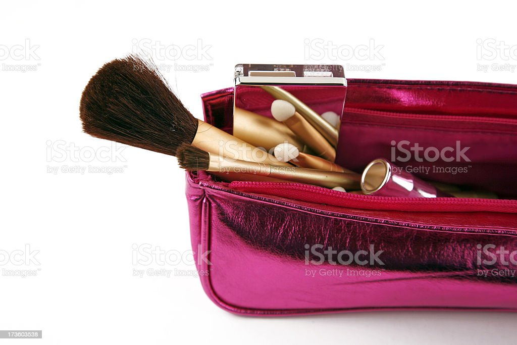 Cosmetics purse stock photo